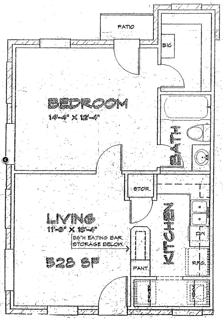100 500 sq ft apartment floor plan floor plan for the 984 s