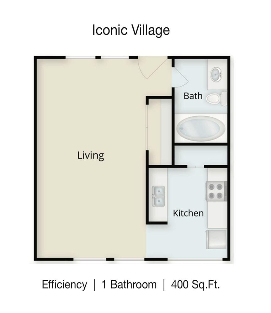 Iconic Village | Denton College Apartment Source